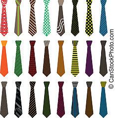 uomini, cravatta, illustrazione