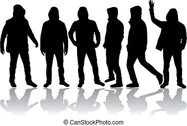 uomini, gruppo