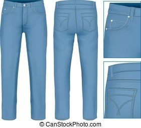 uomini, jeans