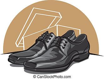 uomini, scarpe