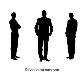 uomini, silhouette