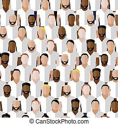 uomini, vettore, modello, gruppo, spor, seamless, il portare, o, comunità