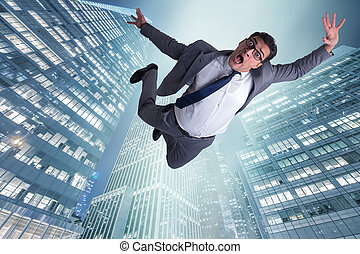 uomo affari, affidare, suicidio, dovuto, a, crisi