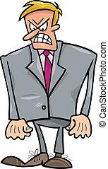 uomo affari, arrabbiato