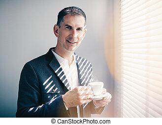 uomo affari, coffe foggiano coppa