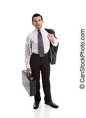 uomo affari, con, cartella