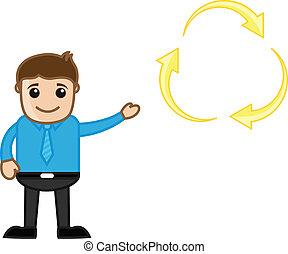 uomo affari, esposizione, riciclaggio, icona