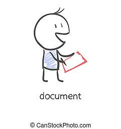 uomo affari, firmare, documenti