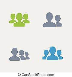 uomo affari, granito, -, avatars, icone