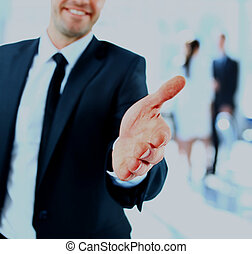 uomo affari, handshake., offerta