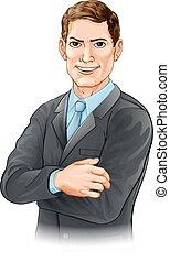 uomo affari, illustrazione