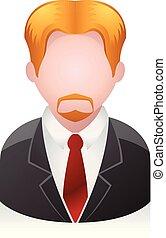uomo affari, persone, -, avatar, icone