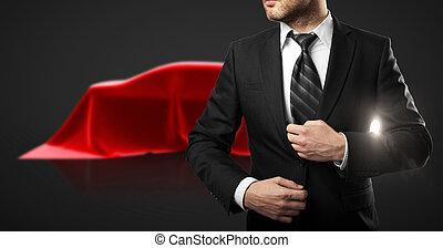 uomo affari, presentazione, automobile