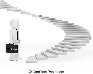 uomo affari, scale
