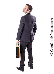 uomo affari, valigia