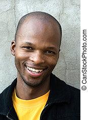 uomo, africano, giovane