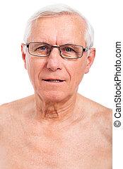 uomo, anziano, faccia