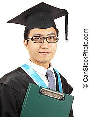 uomo asiatico, graduazione
