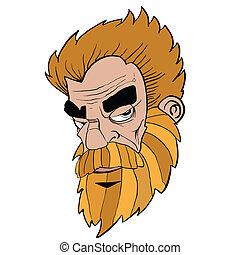 uomo barbuto