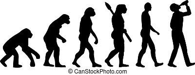 uomo, bere, evoluzione
