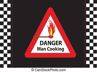 uomo, cottura