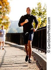 uomo, fare jogging