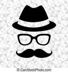 uomo, hipster