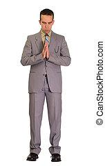uomo, pregare