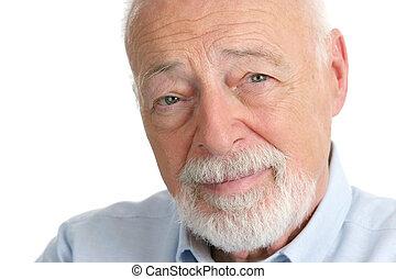 uomo senior, -, saggezza
