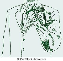 uomo soldi