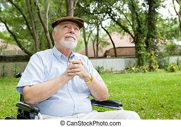 uomo, spirituale, anziano