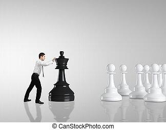 uomo, spostamento, scacchi