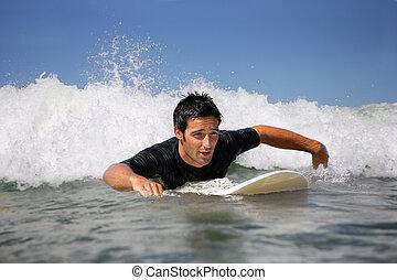 uomo, surfing