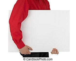 uomo, vuoto, camicia, presa a terra, segno