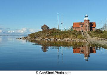 Uostadvarsky old lighthouse on the