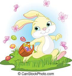 uova, coniglietto pasqua, bastonatura