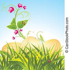 uova, fiori, pasqua