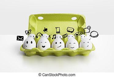 uova, gruppo