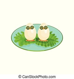 uova, illustrazione, creativo, forma, vettore, fondo, bianco, uccelli