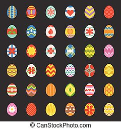 uova pasqua, 36, colorito, appartamento, disegno, icone