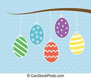 uova, pasqua, appendere