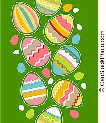 uova pasqua, bordo, seamless, verticale
