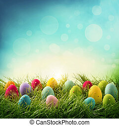 uova, pasqua, colorito
