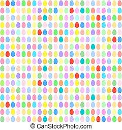 uova, pasqua, orizzontale, colorito