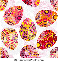 uova pasqua, ornamento, seamless