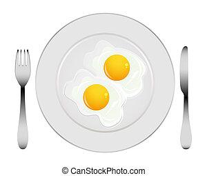 uova, piastra