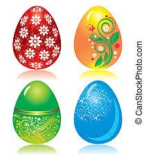 uova, set, pasqua, ornare