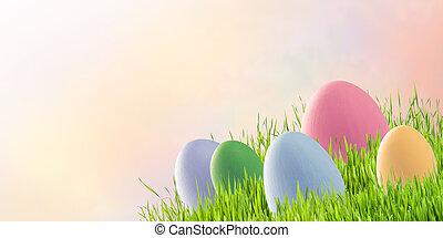 uova, su, pasqua, vacanza, fondo