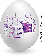 uovo compleanno, torta