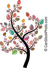 uovo di pasqua, albero